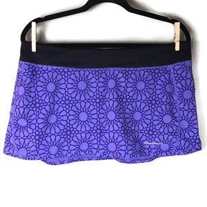 Patagonia Geometric Print Purple Pull-On Skort